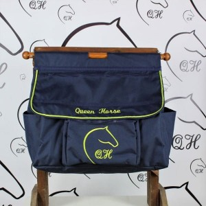 QUEEN HORSE Torba na boks Navy&Lime